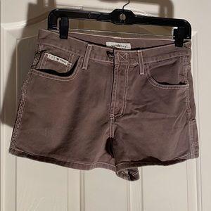 Vintage l.e.i twill workwear short 7 JR camo green
